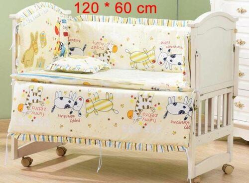 Baby Bedding Set Crib for Boy Girl Sets Nursery Animated Newborns 100/%Cotton