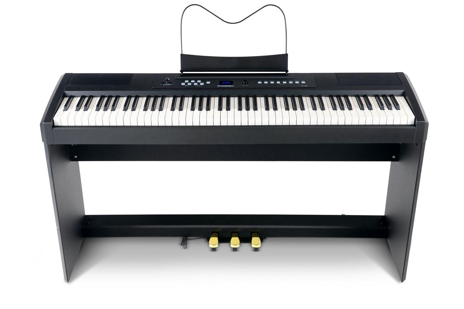 Piano compact numérique 88 touches touches touches mécanique à marteaux 3 Pédales réglable 35b743