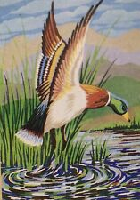 Punch Needle Embroidery Large A3 Mallard with yarn by Webster's