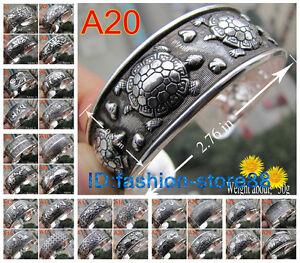Beautiful-40-style-Tibetan-Tibet-Silver-Totem-Bangle-Cuff-Bracelet