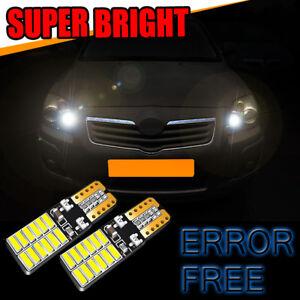Vauxhall Zafira MK1 Super White Xenon HID Upgrade Parking Beam Side Light Bulbs