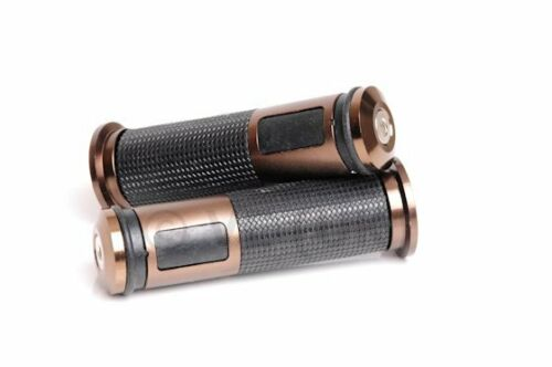 BUSH HANDLEBAR GRIPS BRONZE WITH BLACK RUBBER VESPA ET2