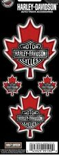 Harley Davidson maple leaf canadian hd canada bike motorcycle 4 decal sticker