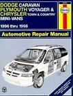 Automotive Repair Manual: Dodge Caravan, Plymouth Voyager and Chrysler Town and Country Mini-Vans Automotive Repair Manual by L. Alan LeDoux and J. H. Haynes (1998, Paperback)