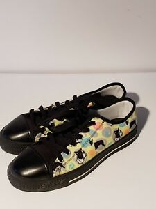 dfd24c795d77 Image is loading Low-Top-Canvas-Fashion-Sneakers-Shoes-School-pugWomens-