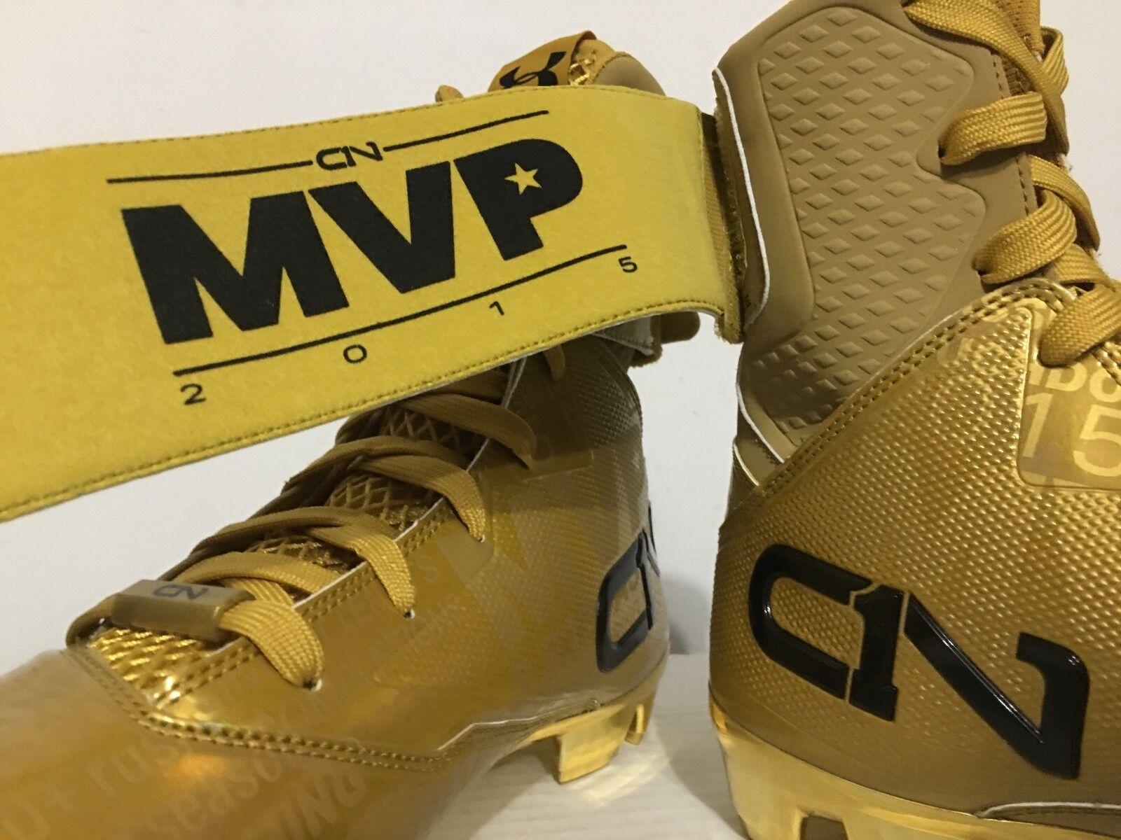 Under Under Under Armour C1N Tarnfarbe Newton MVP Fußball Stollenschuhe Gold Rush Größe 9 0ab67e
