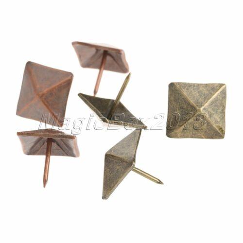50pcs Antique Bronze Furniture sofa Door Decorative Upholstery Square Rivet Tack