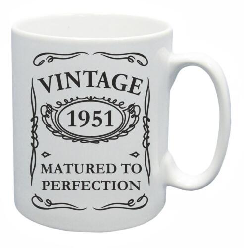 69th Novelty Birthday Gift Present Tea Mug 1951 Matured To Perfection Coffee Cup