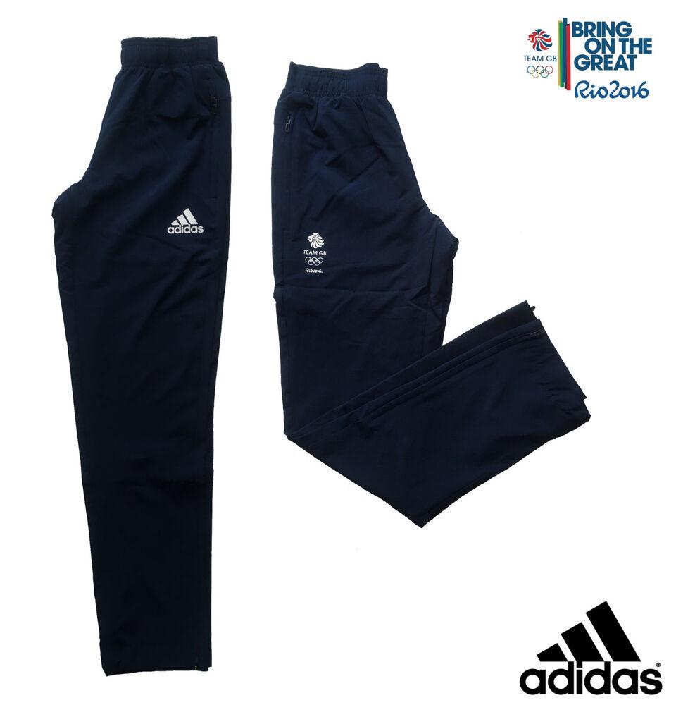 "Adidas Team Gb Rio 2016 Elite Athlète Olympique Présentation Pantalon Taille 36"""