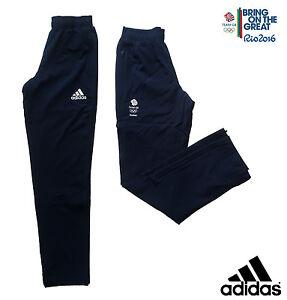 """Adidas Team Gb Rio 2016 Elite Athlète Olympique Présentation Pantalon Taille 40""""-afficher Le Titre D'origine"""
