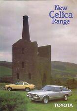 Toyota Celica 1600 2000 Coupe Liftback 1980-82 Original UK Sales Brochure 90205