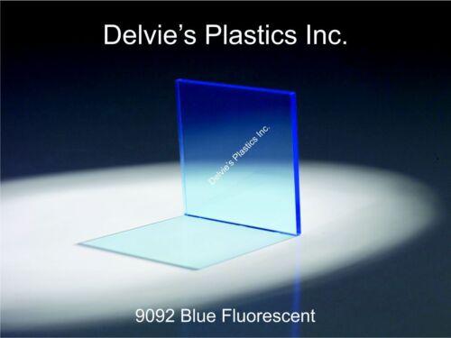 "5 Sheets 1//8/"" 9092 Fluorescent Blue Cell Cast Acrylic Sheet  12/"" x 12/"""