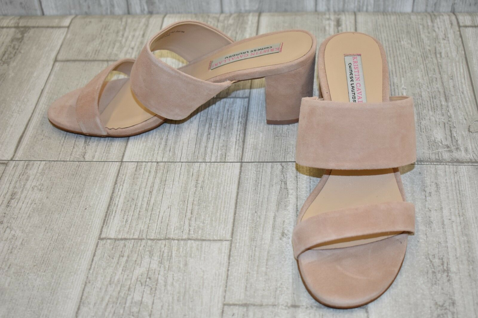 Kristin Cavallari Lakeview Suede Slide Sandals, Women's Size 9.5, Tigers Eye