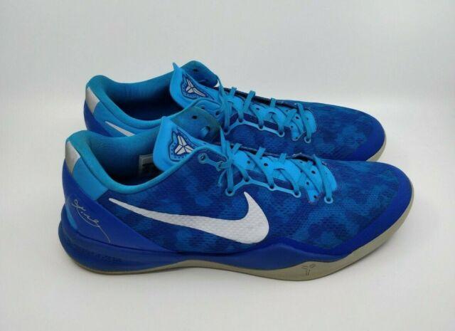new photos sells new design Nike Kobe VIII 8 System Blue Glow/grey-royal Blue Coral Snake ...