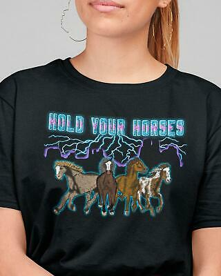 cowboycowgirl shirt Rodeo shirt Hold your Horses Cowgirl Tshirt