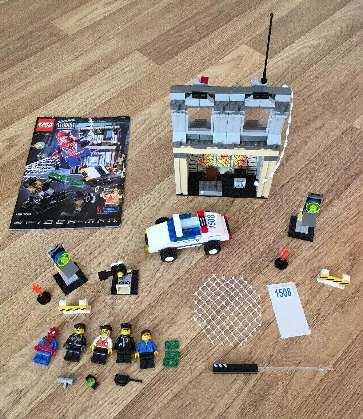 Lego Studios Spider- Man Set No 1376 Complete Inc Mini Figures As Pictured