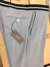 Pantaloni uomo METRICO sportivi tuta tg. 52 cotone grigi melange
