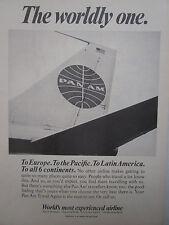 6/1967 PUB COMPAGNIE PAN AM AIRLINER TAIL / OZARK AIRLINE DC-9 ORIGINAL AD