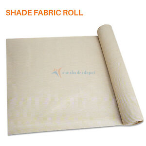 Beige DIY Customize 8 FT Fabric Roll Shade Cloth Fence Windscreen Privacy UVMesh