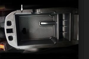 Portaoggetti Cassetto Bracciolo di Colore Nero Fiat 500x  Bracciolo  SUV