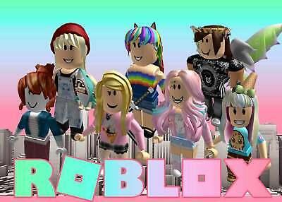 Roblox Games Cake Roblox Girls Edible Cake Topper Frosting Sheet Quarter Half Sizes Ebay