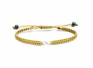 LARACO-JEWELLERY-Sterling-Silver-Infinity-Charm-Friendship-Cord-Knot-Bracelet