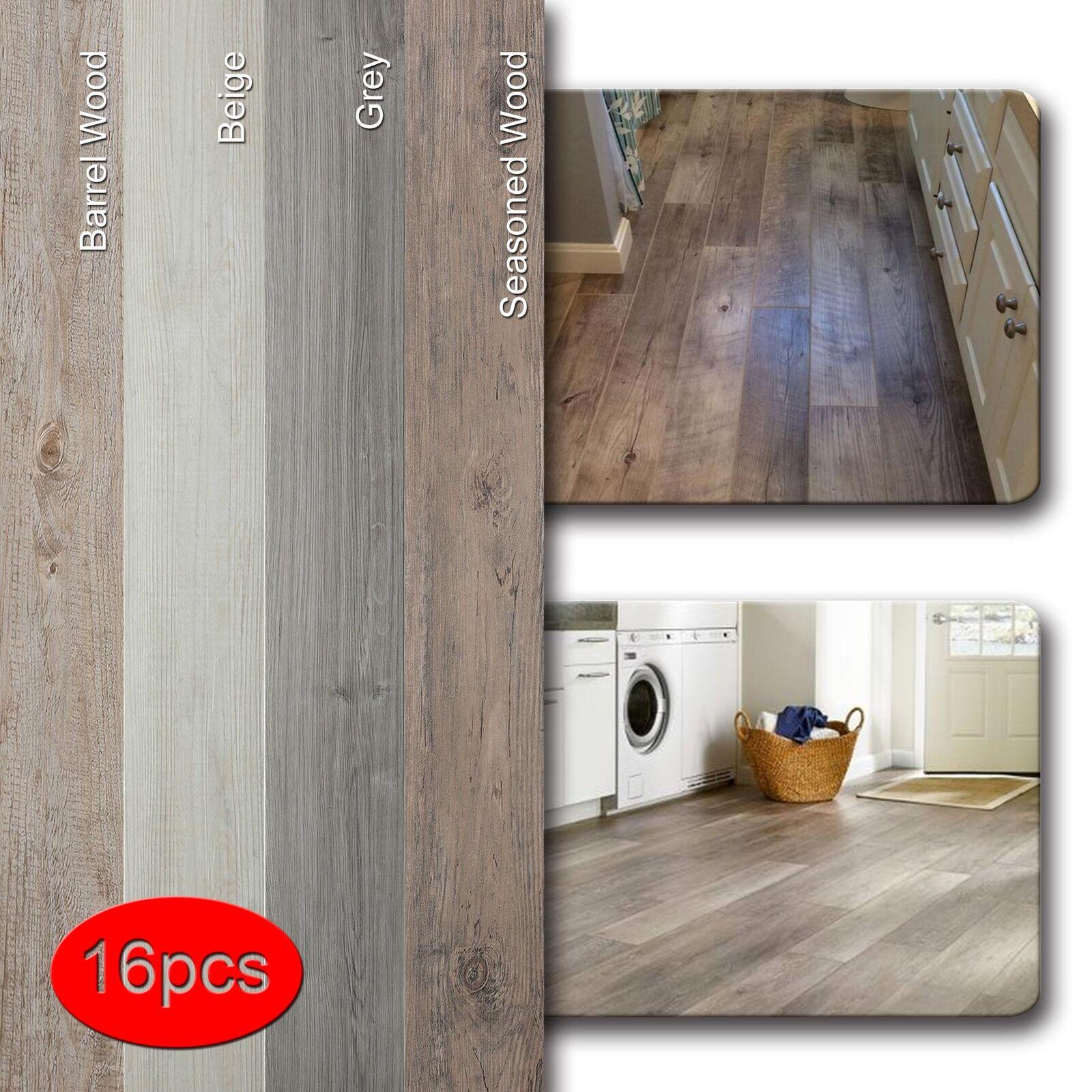 Vinyl Floor Planks Wood Tiles Home Furnishing Peel Stick Self Adhesive 16pcs Ebay