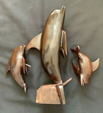Jumping Dolphin; Ironwood Carving From Mexico