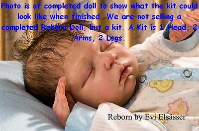 REBORN DOLL KIT, ANGELO BY LINDE SCHERER, 3/4 ARMS & 3/4 LEGS, VINYL DOLL KIT