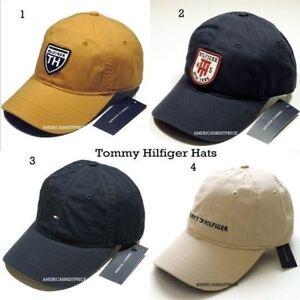 TOMMY HILFIGER NEW MEN S BASEBALL CAP HAT YELLOW BLUE NAVY BEIGE ... 4c25ca3094e