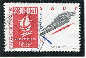 Stamp / Timbre France Oblitere N° 2674 Jo Alberville Saut A Ski