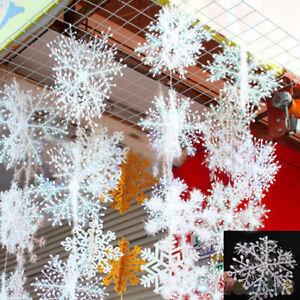 HOT-30pcs-vacanze-natalizie-Bianco-Snowflake-Charms-Festa-Decorazione-Ornamenti
