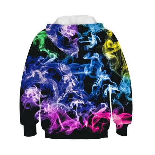 Kids Boys Girls 3D Print NASA Sweatshirt Pullover Jumper Hoodies Tops Age 5-14Y