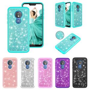 For-Motorola-Moto-G7-Play-G7-Optimo-Case-Glitter-Bling-Armor-Shockproof-Cover
