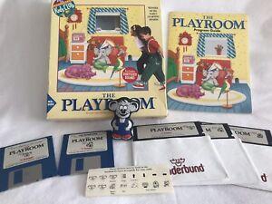 Vintage-1991-Broderbund-THE-PLAYROOM-Rare-Complete-MS-DOS-PC-Software