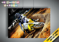 Poster Moto Cross Competition Sport Extrem