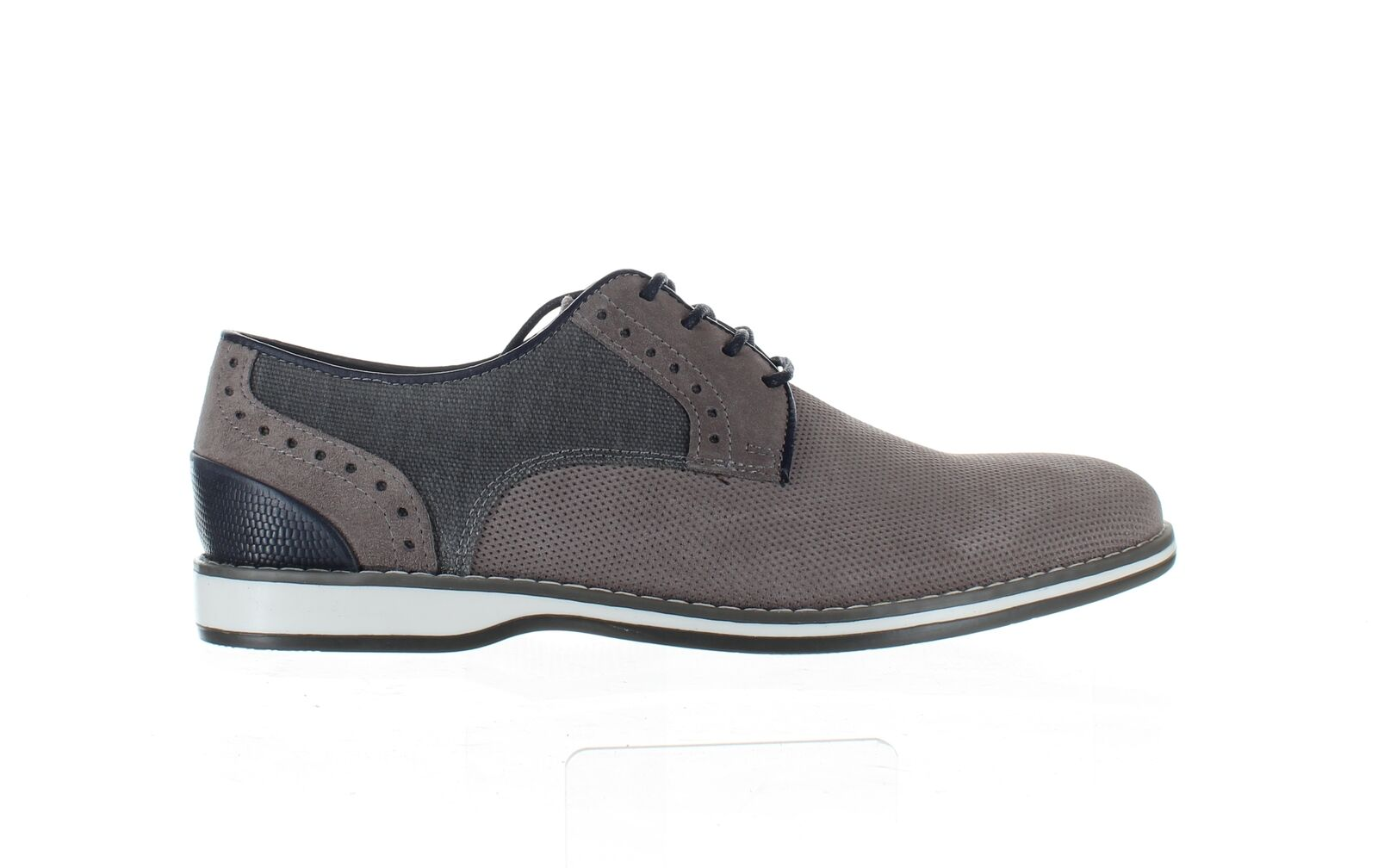 Kenneth Cole Mens Weiser Lace Grey Oxford Dress Shoe Size 7.5 (1794890)