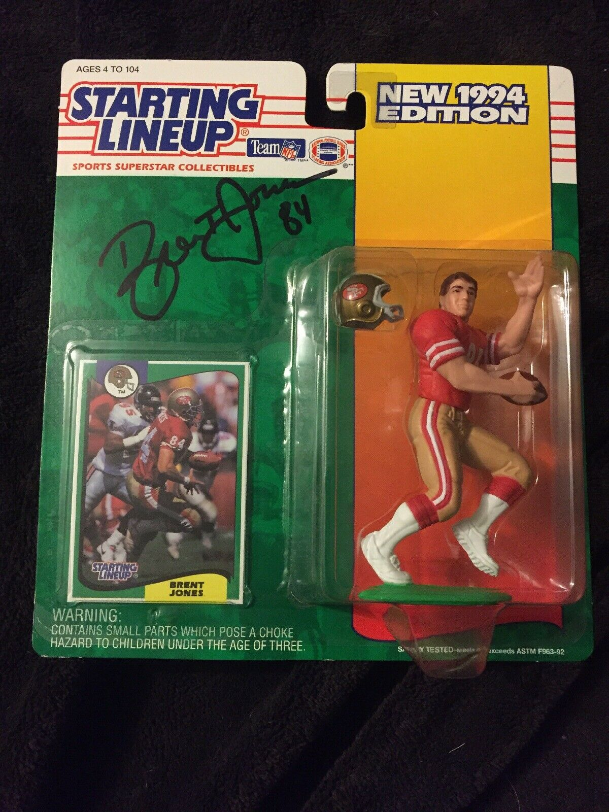 Brent Jones Signed  Autographed 1994 Starting Lineup... 49ers
