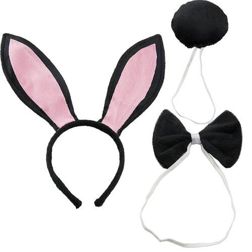 1PC Rabbit Bunny Ears Bow Tie Tail Headband Hair Band Fancy Dress Headwear Gift