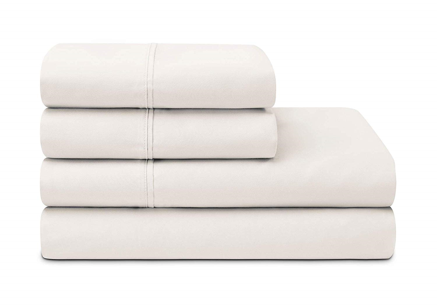 Sleepletics Celliant Performance Sheet Set with 2 Pillowcases Chalk, Queen 15''