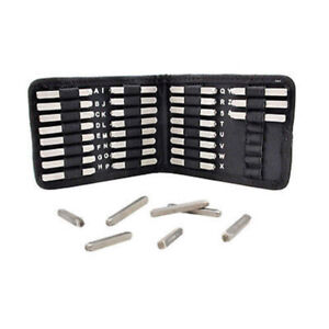 Dots-Uppercase-Punch-Stamp-27pc-Set-W-Case-3mm-Beadsmith-Metal-Jewelry