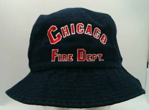 Chicago Fire Department Arched Navy Bucket Hat-7907