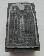 Vintage Printing Letterpress Printers Block Big City Building Skyscraper