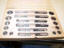 Vintage TAP AND & DIE SET w/ ORIGINAL WOOD BOX, jawco No.66