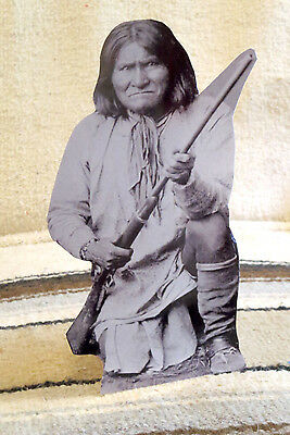 """Geronimo Native American Western Tabletop Display Standee From Actual Photo 10"""""""