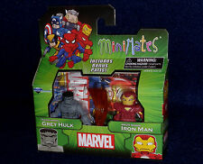 Marvel MiniMates Best of Series 3 GREY HULK & IRON MAN MARK 29 Figure 2 PK