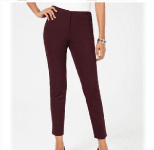 1159 Alfani Womens Black Stretch Mid-Rise Work Wear Skinny Pants