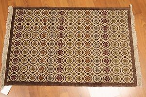 2-039-x-3-039-Hand-Knotted-Oriental-Accent-Wool-Traditional-Area-rug-AORAC7-2x3