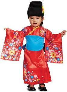 Image is loading Toddler-Girls-Geisha-Costume -Kimono-Princess-Japanese-Halloween-  sc 1 st  eBay & Toddler Girls Geisha Costume Kimono Princess Japanese Halloween Kids ...