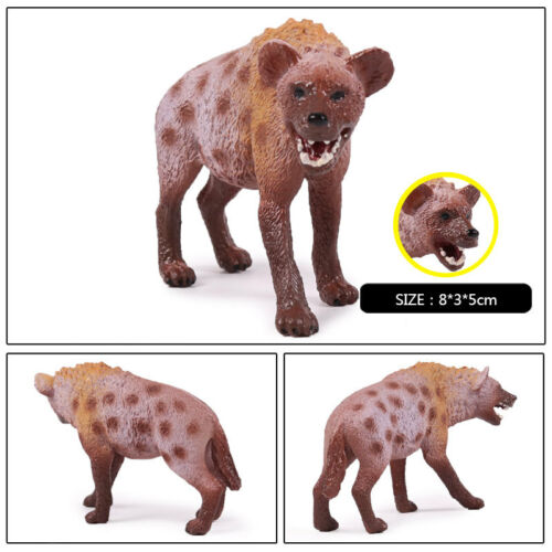 Africa Hunter Hyena Wild Animal Figure Model Toy Collector Decor Kid Gift